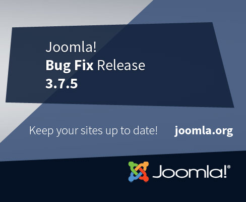 Joomla 3.7.5 Security & Bug Fixes Release
