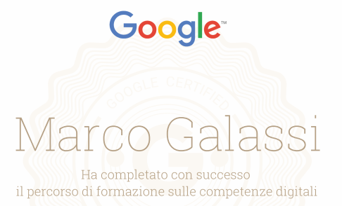 Marco Galassi, consulente IT Google Certified