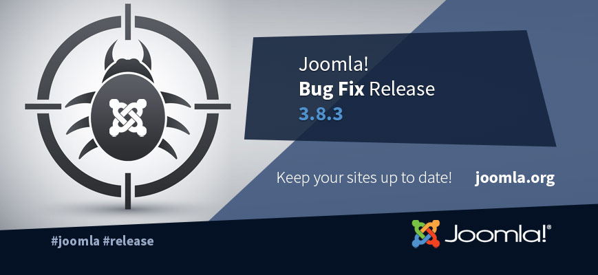 Joomla 3.8.3 Security & Bug Fixes Release