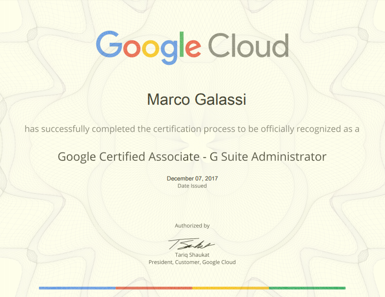 Google Certified Associate G Suite Administrator