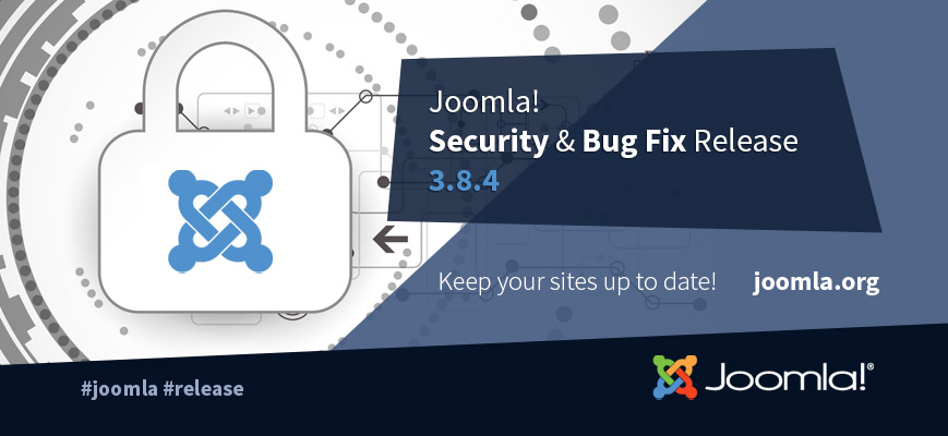 Joomla 3.8.4 Security & Bug Fixes Release