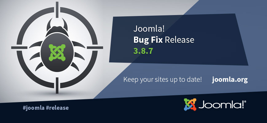 Joomla 3.8.7 Bug Fixes Release