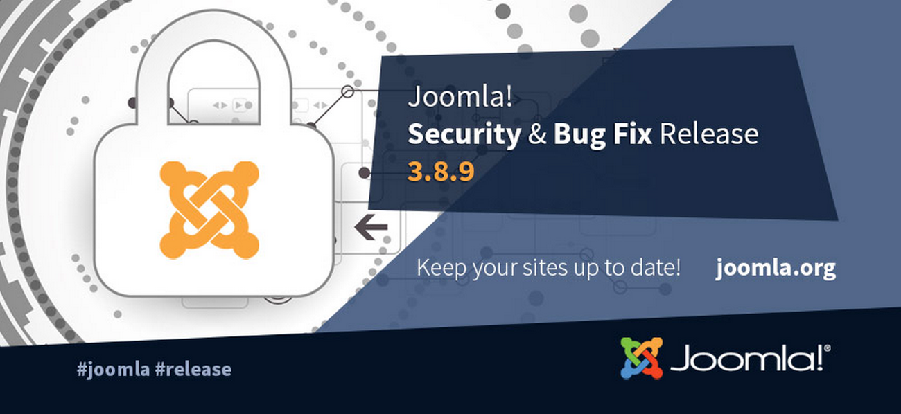 Joomla 3.8.9 Bug Fixes Release