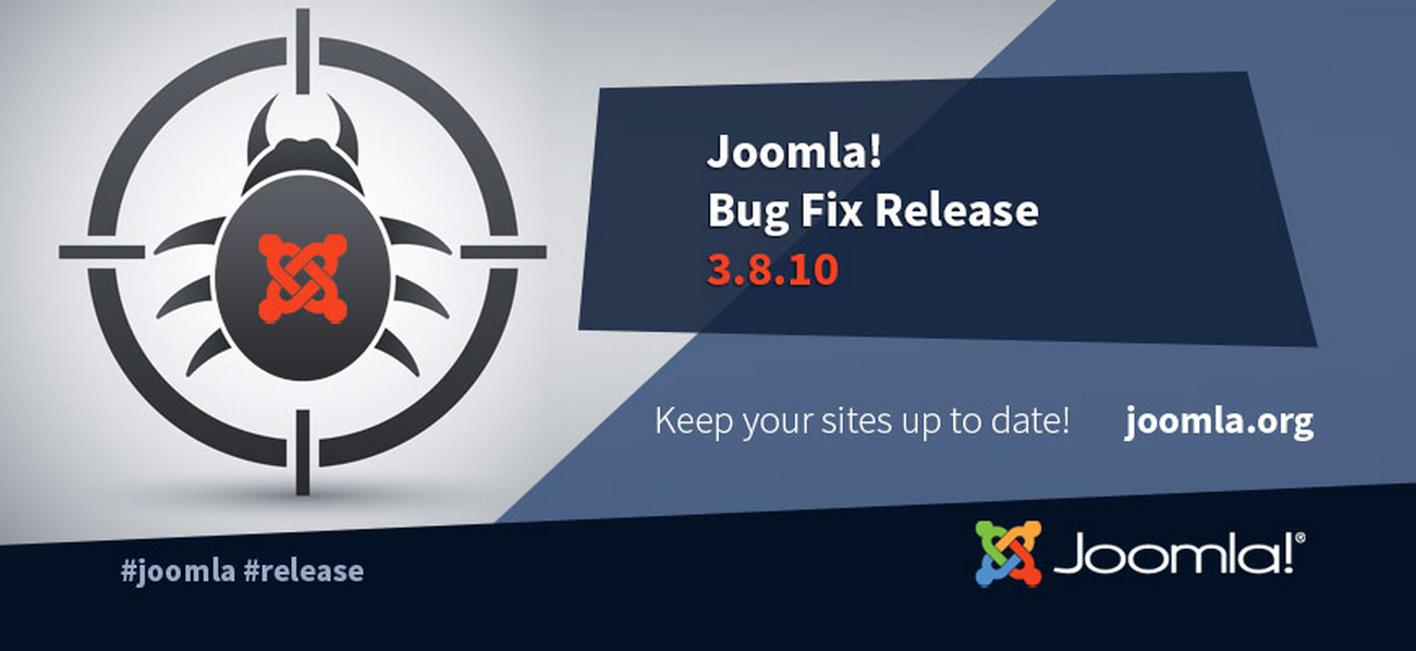 Joomla 3.8.10 Bug Fixes Release